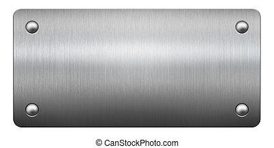 prato metal, 3d, ilustração