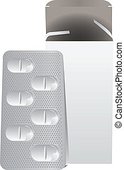 prato, metal, pílulas