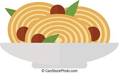 prato pasta, vetorial, illustration.