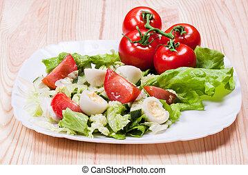 prato, salada
