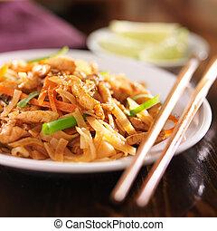 prato, tailandês, almofada, galinha