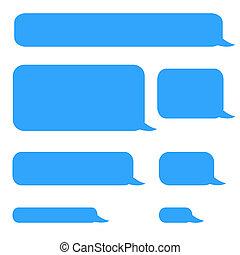pratstund, bubblar, sms, bakgrund, ringa