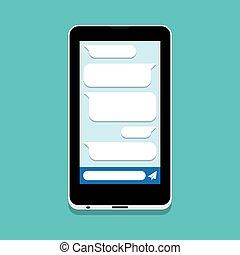 pratstund, smartphone, sms