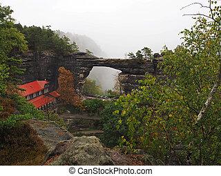 Pravcicka brana - biggest natural sandstone gate in europe...