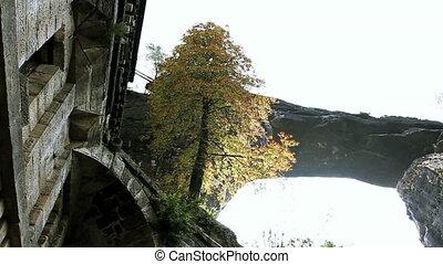 Pravcicka gate. Bohemian Switzerland, Czech Republic. -...
