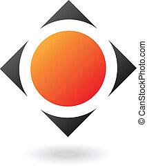 pravoúhelný, a, čtverec, abstraktní, ikona