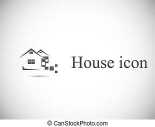 prawdziwy, dom, abstrakcyjny, stan