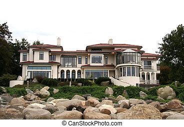 prawdziwy, dom, luksus, stan