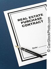 prawdziwy, kupować, stan, kontrakt