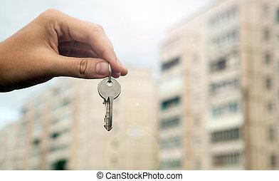 prawdziwy, metafora, stan, mieszkaniowy, służby, nowy