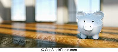 prawdziwy, pojęcie, stan, pieniądze, świnka, dom, oprócz, lokata, bank