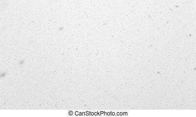 prawdziwy, spadanie, seamless, śnieg