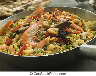 Prawn and Vegetable Biryani