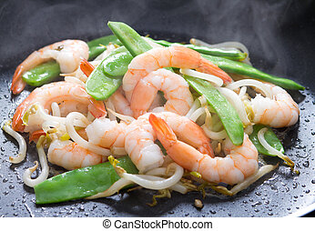 prawn and vegetable stir fry