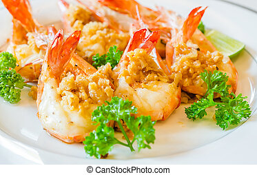 Prawn garlic yaki - Prawn garlic shrimp