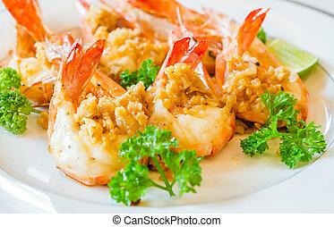 Prawn garlic yaki - Prawn garlic shrimp