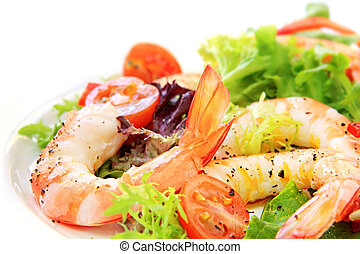 Prawn Salad - Prawn salad. Simple and healthy salad of...