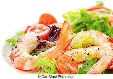 prawn, salat