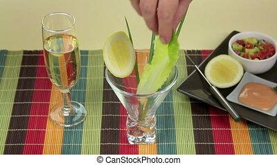 Prawn Skewers - Making a sumptuous prawn cocktail to enjoy...