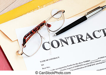 prawny kontrakt, papiery, prawo