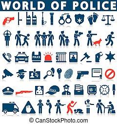 prawo, policja, ikony