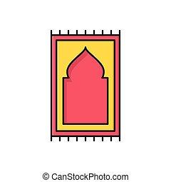 pray  flat color icon