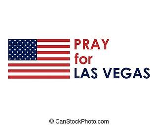 Pray for Las Vegas. Terrorist act, massacre, shooting. Volunteer help. Vector illustration