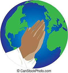 pray for the world - praying hands for the world