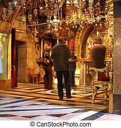 Pray in Jerusalem church