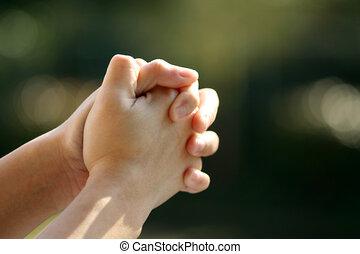 Praying (soft focus)