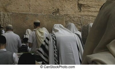 Prayer at Western wall