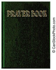 Prayer Book Cover - A green front cover of a prayerbook