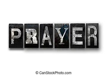 Prayer Concept Isolated Letterpress Type