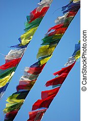Prayer Flags - Prayer flags against the sky