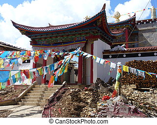 Prayer flag(Tibetan Darchor),Shangrila, Yunnan, China