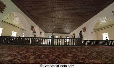Prayer hall interior of Big Khan Mosque in Bakhchysaray, Crimea