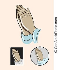 Prayer Hand, art vector design