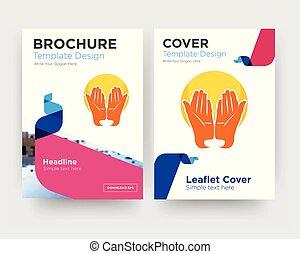 prayer hands brochure flyer design template