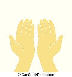 Prayer Hands Illustration Design