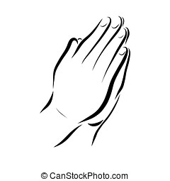 prayer, hands of a praying person