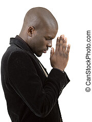 Prayer State - This is an image of a businessman in a state...