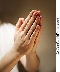 Prayer - Hands clasped in a prayer.