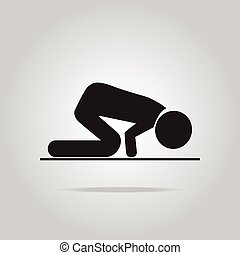 Prayer symbol icon - Prayer symbol, icon vector illustration...