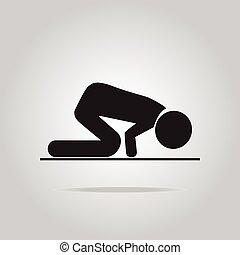 Prayer symbol icon - Prayer symbol, icon vector illustration...
