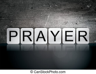 Prayer Tiled Letters Concept and Theme