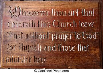 Prayer to God Sign - Changi Prison (Chapel Museum), Singapore