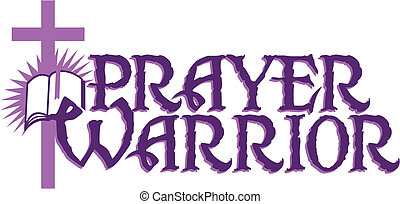 prayer warrior design with cross and bible