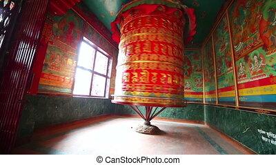 Prayer wheel at Boudhanath, Kathmandu, Nepal