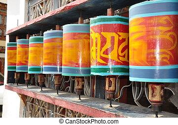 Prayer Wheel in Paro, Bhutan