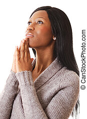 Prayer Woman - This is an image of a woman focussing in...
